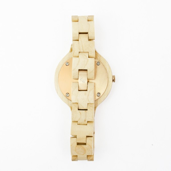 Kate-Wood-womens-wooden-watch-Milan-buy-wooden-watch-light-sandalwood-and-rose-details-at-Kate-Wood-webshop-front-white-plate-closing-mechanism-rose-gold-600×600