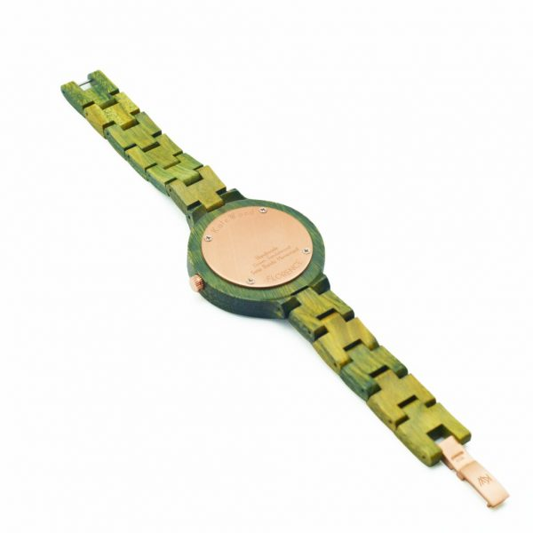 Kate-Wood-wooden-watch-Florence-women-watch-buy-wooden-watch-at-Kate-Wood-webshop-rear-bronze-plate-side-view-1024×1024